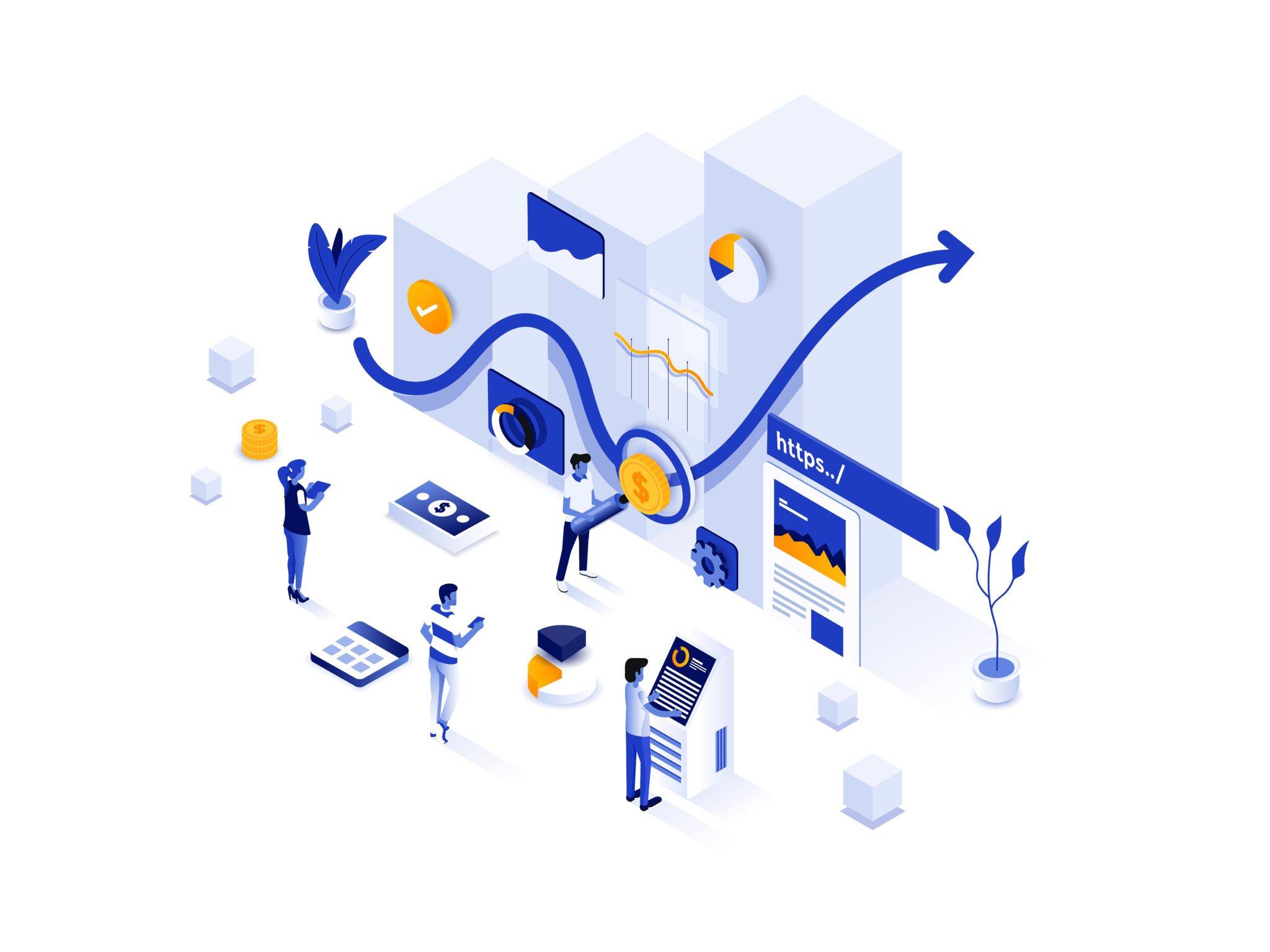 Modern-Isometric-Illustration-design-Investment-Solutions-2048x1536
